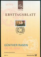 BRD - 1998 ETB 35/1998 # - Mi 2020 - 300Pf          Günther Ramin - FDC: Panes
