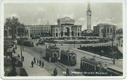 Turkey - Istanbul 1935 - Mosque,tramway,Bayazit Meydani - Turchia