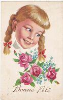 Illustrateur Non Signé : à Définir : Bonne Fête : Fleur - Et Fillette : Photochrom - N° 336 - - Fleurs