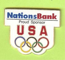 Pin's JO Jeux Olympiques USA Nations Bank Proud Sponsor - 4B22 - Banks