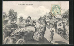CPA Illustrateur Le Mans, Circuit De La Sarthe 1906, Course Automobile - Le Mans