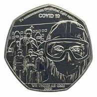 2020 Gibraltar 50 Pence 50p Against To Corona COVID-19 Commemorative Coin Folder - Gibilterra