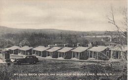 BUDD LAKE , New Jersey , 1930s ; Mt Olive Brick Cabins - United States