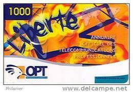 Nouvelle Caledonie Telecarte Prepayee Prepaid Liberte 1000 F Annuaire Telephone Ut 31/12/2004 TBE - Nueva Caledonia