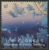 AUSTRALIAN ANTARCTIC TERRITORY-USED 2016 $1.00 Ice Flowers, Blue - Used Stamps
