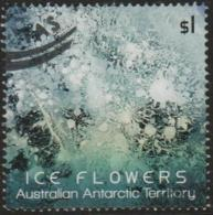 AUSTRALIAN ANTARCTIC TERRITORY-USED 2016 $1.00 Ice Flowers, Green - Used Stamps