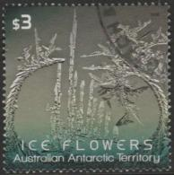 AUSTRALIAN ANTARCTIC TERRITORY-USED 2016 $3.00 Ice Flowers, Grey Green - Used Stamps