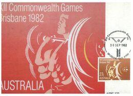 (N 8) Australia - Commonwealth Games Brisbane 1982 - Weight Lifting (ASPC131) - Halterofilia