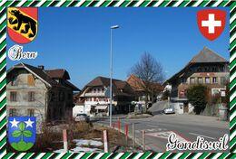 Postcard, REPRODUCTION, Switzerland, Canton Bern, Gondiswil - Landkaarten