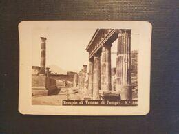 CDV ANCIENNE ANNÉES 1800 REPRÉSENTANT TEMPIO DI VENERE Di Pompei.  PHOTOGRAPHE RIVE. NAPLES - Antiche (ante 1900)