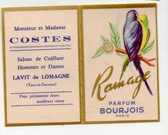 Lavit De Lomagne (82 Tarn Et Garonne) Carte Parfumée Et Calendrier 1961 Bourjois Ramage   (PPP23791) - Parfumkaarten