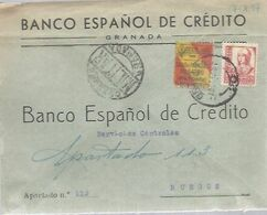 CARTA COMERCIAL  A BURGOS 1937 CENSURA MILITAR  GRANADA  VIÑETA - 1931-50 Cartas