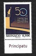 Monaco 2020 - Yv N° 3244 ** - 50 Ans Théâtre Du Fort Antoine - Ungebraucht