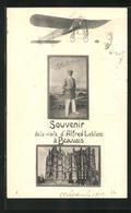 CPA Beauvais, Souvenir De La Visite D`Alfred Leblanc, Un Avion - Beauvais