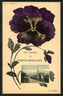 Salutations Fleuries-CPA Haute-Goulaine, Vue De La Rue Avec L'Église, Pensée - Haute-Goulaine