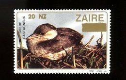 Zaire 1990-Oiseau-Grebe-1 Timbre Surchargé Nouvelle Valeur***MNH - Songbirds & Tree Dwellers