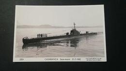 """SOUS-MARIN   """" CASABLANCA """"  - Carte Photo Marius BAR Toulon - Submarinos"""