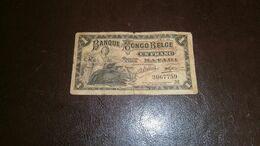 BELGIAN CONGO 1 FRANC 1920 + GABON 10.000 FRANCS - Belgian Congo Bank