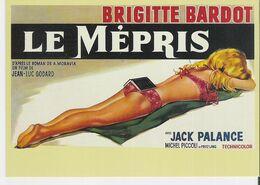 BRIGITTE BARDOT - LE MEPRIS. CP Editions Zreik N°187 Film De Jean Luc Godard Avec Michel Piccoli - Posters On Cards