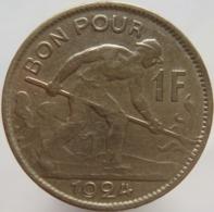 Luxembourg 1 Franc 1924 VF / XF - Lussemburgo