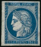 ** N°4d 25c Bleu, Réimp - TB - 1849-1850 Ceres
