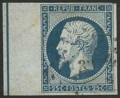 Oblit. N°10b 25c Bleu, BDF Avec Filet D'encadrement - TB - 1852 Louis-Napoléon