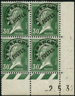** N°66 30c Vert, Bloc De 4 CD 2/5/32 - TB - Poste Aérienne