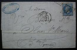 Toulouse 1869 Saint Martin Oulé & Cie Lettre Pour Oloron Sainte Marie - 1849-1876: Klassieke Periode