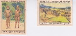 IMAGE CHOCOLAT PUPIER -  CHROMO - AFRIQUE EQUATORIALE FRANÇAISE  AEF - INDIGENES  LES RAPIDES DE L'OGOOUE GABON - Other