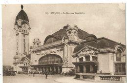 ENTIER SEMEUSE 15C BRUN CP EXPO LIMOGES 1930 LA GARE  DES BENEDICTINS - Enteros Postales