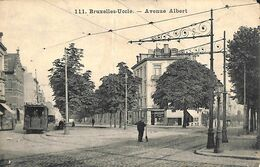 Uccle - Avenue Albert (animée Tram Tramway Ligne 12...pli!) (prix Fixe) - Ukkel - Uccle
