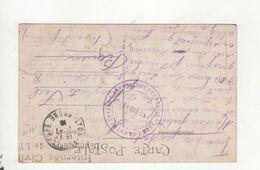 Cachet Internes Civil Depot De Lyon Et Cahet Prefecture - Oorlog 1914-18