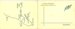 Vieux Papiers - Carton D'invitation - Club Vosgien Soultz Sous Forêt Merkwiller - Inauguration Refuge Soultzerkopf - Announcements