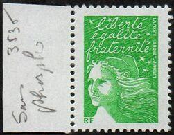 France N° 3535 Aa ** Marianne Du 14 Juillet. Luquet - Variété Le TVP RF Vert Sans Phosphore - 1997-04 Marianna Del 14 Luglio