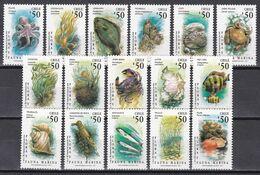 Chile 1991 - Mi.Nr. 1444 - 1459 - Postfrisch MNH - Tiere Animals - Fische