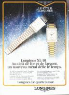"""PUB MONTRES """" LONGINES """"   1983 ( 12 ) - Montres Anciennes"""