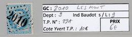 GC 2010 LESMONT ( Dept 9 )  S / N° 29A - 1849-1876: Periodo Classico