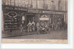 LE MANS - Maison Froissard - Cycles, Motos Et Machines à Coudre - 43, Rue Gambetta - état - Le Mans