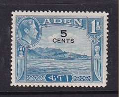 Aden: 1951   KGVI - Surcharge   SG36   5c On 1a     MNH - Aden (1854-1963)
