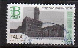 ITALY REPUBLIC ITALIA REPUBBLICA 2016 PIAZZE D'ITALIA PIAZZA DELLA SIGNORIA FIRENZE B 50g 3 USATO USED OBLITERE' - 2011-...: Afgestempeld