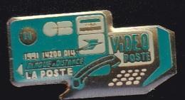 66644-Pin's .banque La Poste.PTT.minitel.CB. - Post