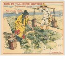 Chromos .n° 40282 . Thes A La Porte Chinoise.12 Cm X 10 Cm . Chine.  Arrosage Du Thé - Tee & Kaffee