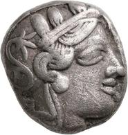 Attika: AR-Tetradrachme, Ca. 479-404 V. Chr., Athen, 16,93 G. Athenakopf Nach Rechts/Eule. Kleiner E - Greche