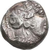 Attika: AR-Tetradrachme Um 350 V. Chr.; 15,7 G, ägyptischer Beischlag ?. Vs: Kopf Der Athena Nach Re - Greche