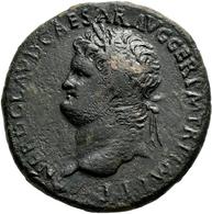 Nero (54 - 68): Sesterz, Mzst. Lugdulum; 33,35 Mm, 26,59 G, Dunkelbraune Patina, Sehr Schön. - 1. The Julio-Claudians (27 BC To 69 AD)