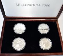 Kiribati: Kiribati/Samoa: 4 X 2-teilige Münzen 1997 Aus Kiribati Und Western Samoa Auf Das Millenniu - Kiribati
