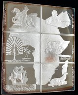 Kongo, Republik (Brazzaville): Set 6 X 1000 Francs 1997, Komplettes Mosaik Aus 6 X 1 Unze Silber (99 - Congo (Democratische Republiek 1964-70)
