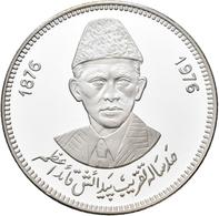 Pakistan: 100 Rupees 1976, 100. Geburtstag Quaid-e-Azam Mohammad Ali Jinnah, Father Of The Nation. K - Pakistan