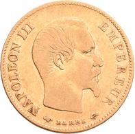 Frankreich - Anlagegold: Napoleon III. 1852-1870: 10 Francs 1858 A. Friedberg 576 A, Gadoury 1014. 3 - Oro