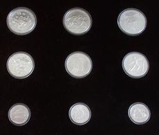 Griechenland: 9-Münzen-Set Leichtathletik Europameisterschaft (Pan-European Games) Athen 1982. 3 X 1 - Grecia